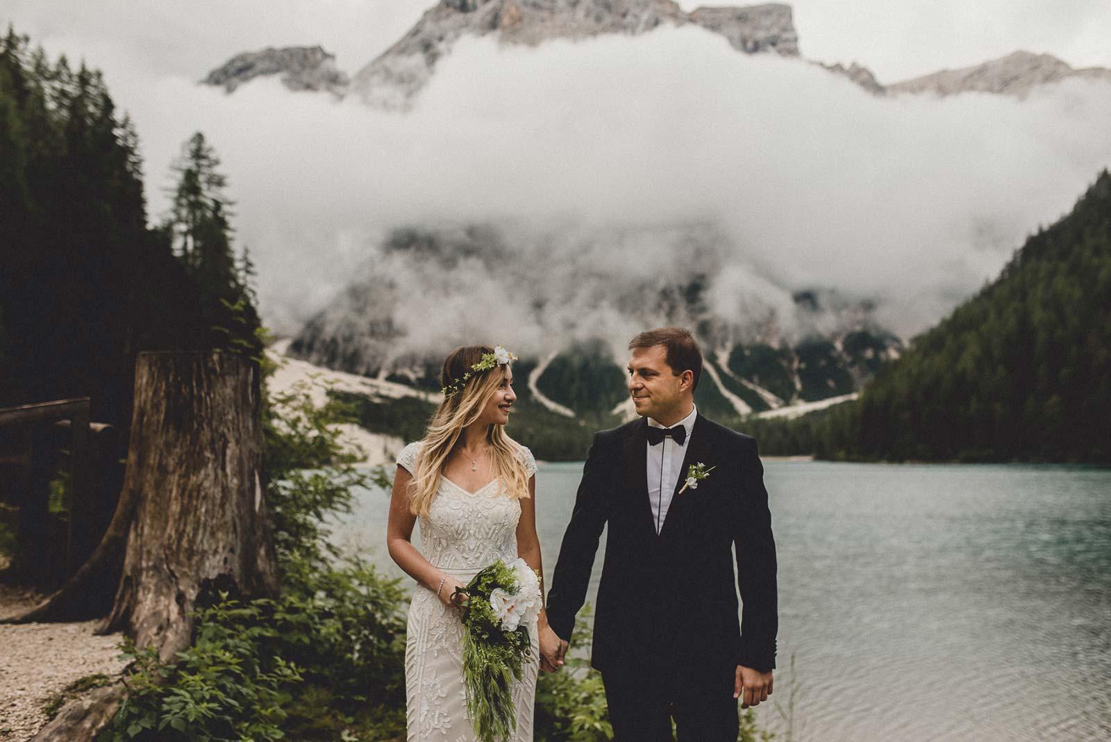 Lago di Braies Elopement Photographer