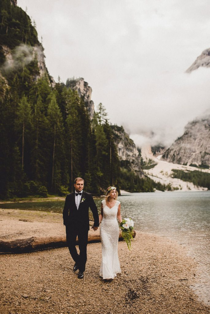 Lago di Braies wedding photographer
