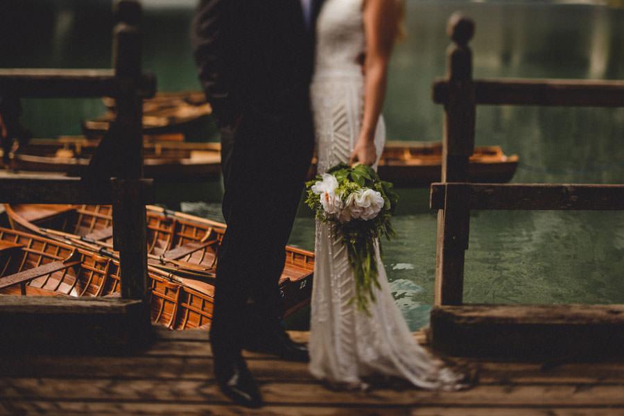 Lago di Braies wedding photographer Dolomites Italy